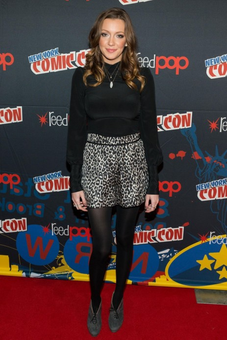 Katie Cassidy At New York Comic Con Beach