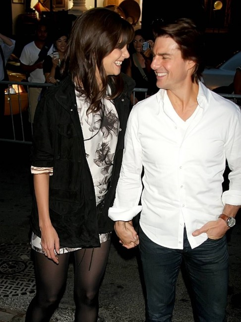 Katie Holmes And Tom Cruise And Tom Cruise