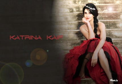 Katrina Kaif In Red Dress Hd Photoshoot Wallpaper