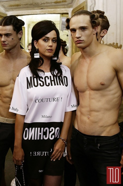 Katy Perry Moschino Spring Menswear Show Milan Fashion Week Tom Lorenzo Site Tlo