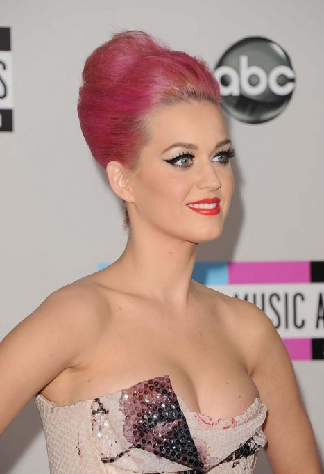 Katy Perry Pink Hair Style