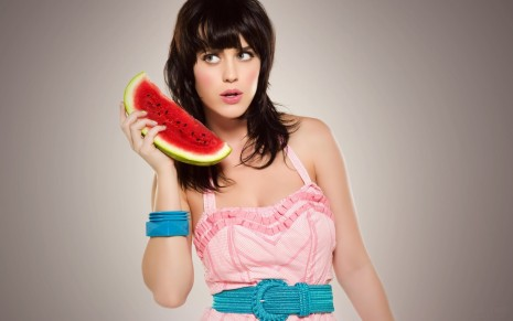 Katy Perry With Watermelon Hd Wallpaper