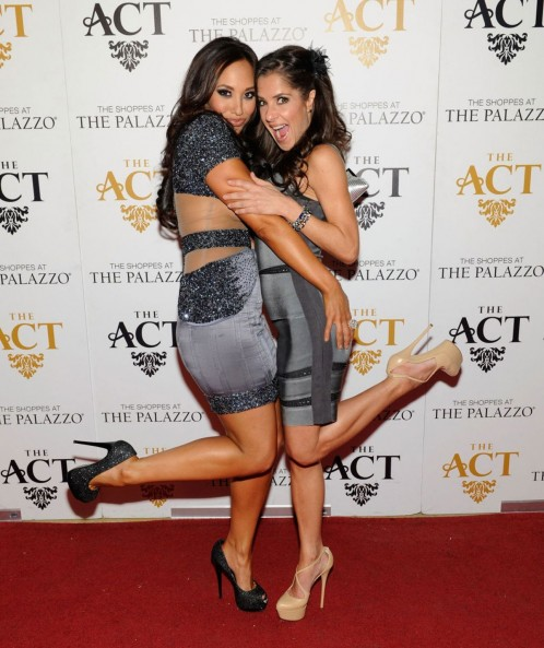 Cheryl Burke And Kelly Monaco At New Years Eve Party At The Act In Las Vegas
