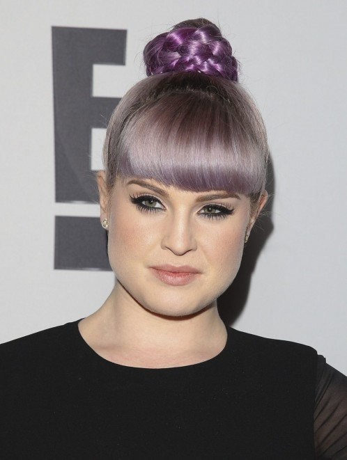 Beauty Kelly Osbourne Braided Bun Hairstyle Main Kelly Osbourne