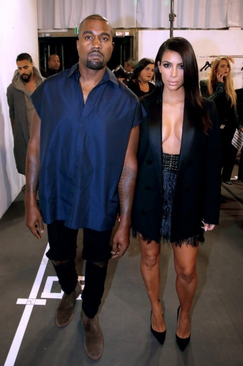 Kanye West Kim Kardashian Lanvin Spring Backstage Fashion