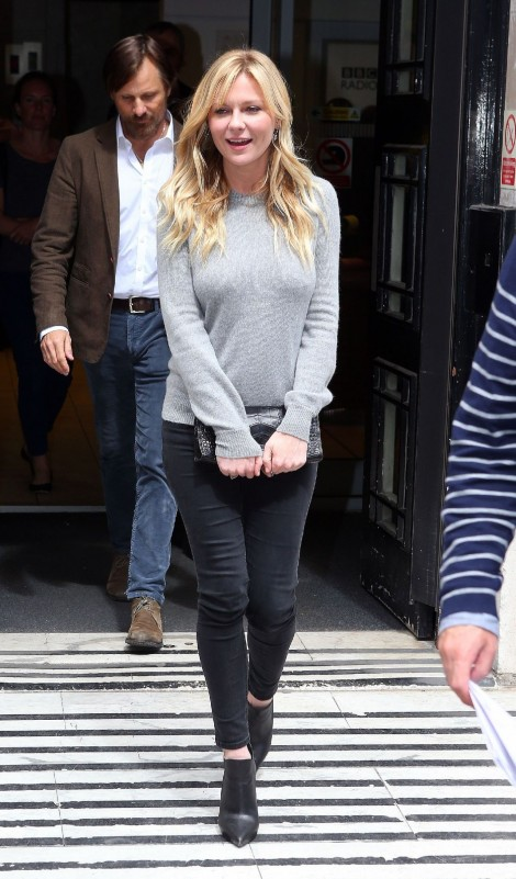 Kirsten Dunst Casual Style Leaving The Bbc Radio Studio In London May Kirsten Dunst