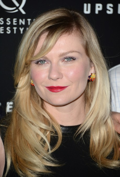 Kirsten Dunst Purple Eyes Red Lips Main