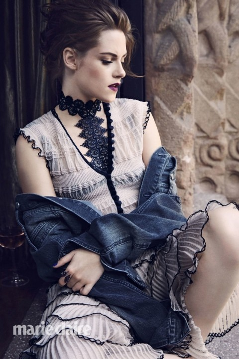 Kristen Stewart Marie Claire August Cover Shoot