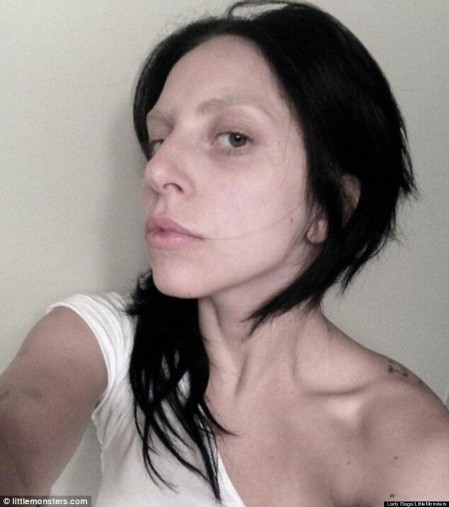 Lady Gaga Looks Unrecognizable In Makeup Free Phot Lady Gag