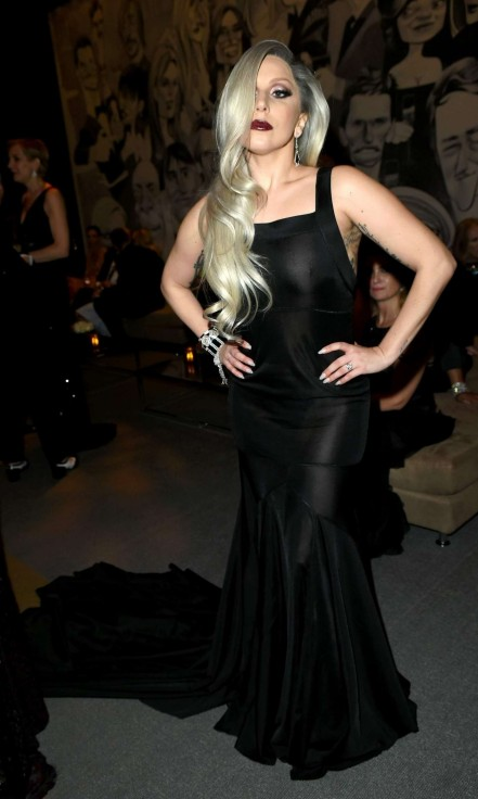 Lady Gaga Vanity Fair Oscar Party In Hollywood