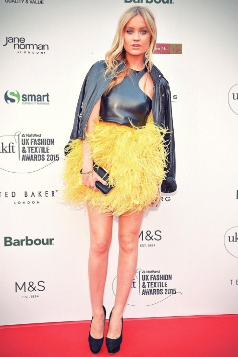 Laura Whitmore Attends Uk Fashion And Textile Awards Laura Whitmore