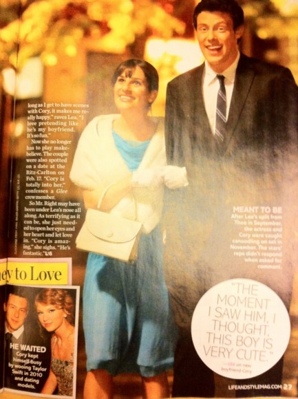 Cory Monteith Lea Michele Dating Glee And Cory Monteith