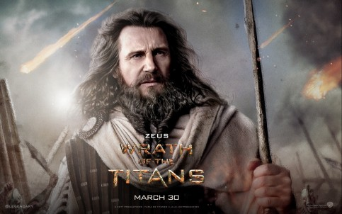 Liam Neeson In Wrath Of The Titans Wallpaper