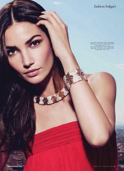 Lily Aldridge Emirates Woman February Lily Aldridge
