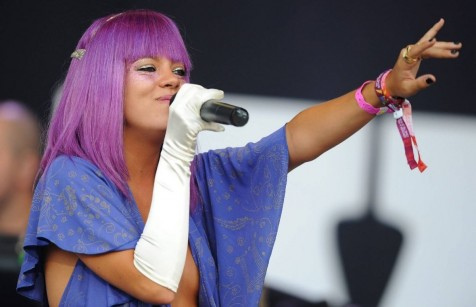 Lily Allen Performing At Pyramid Stage Glastonbury Music Festival Music