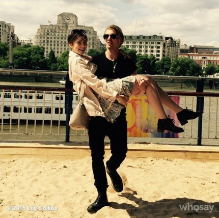 Celebrity Couples Lily Collins Jamie Campbell Bower June Instagram Gallery