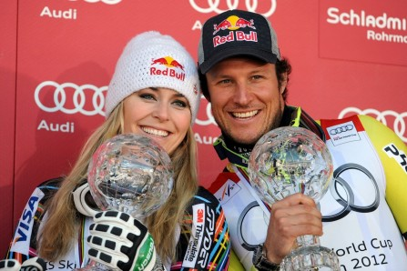 Super Winners Lindsey Vonn And Aksel Lund Svindal Skiing