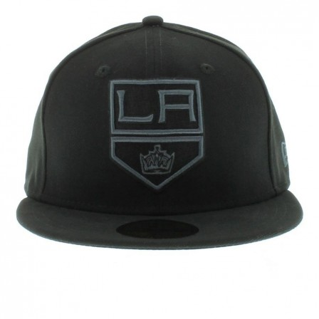 Los Angeles Kings Black The Black Gray Basic Fitted Fifty By New Era Cap Los Angeles Kings