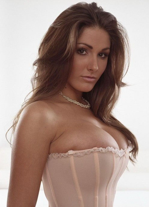 Pose Female Lucy Pinder Bustier Busty Live Model Color Lrg Lucy Pinder