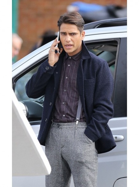 Snatch Movie Luke Pasqualino Wool Coats Luke Pasqualino