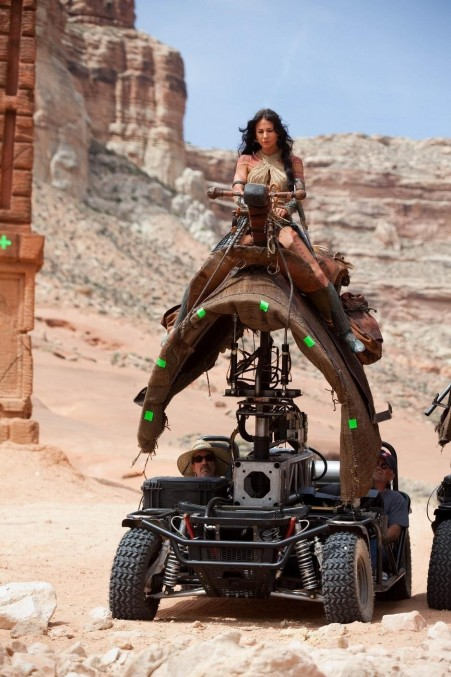 Lynn Collins On The Set Of John Carter Movie Wallpaper Lynn Collins