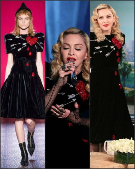 Madonna In Schiaparelli Couture At The Ellen Degeneres Show