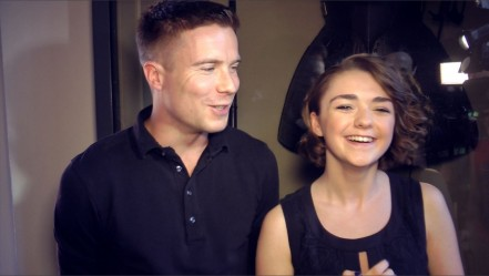 Game Of Thrones Maisie Williams Joe Dempsie And Joe Dempsie