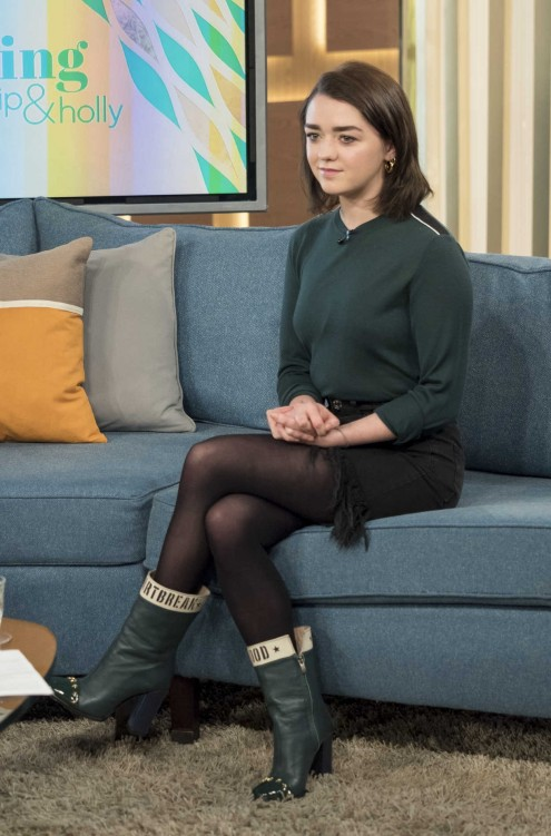 Maisie Williams At This Morning Tv Show In London Maisie Williams