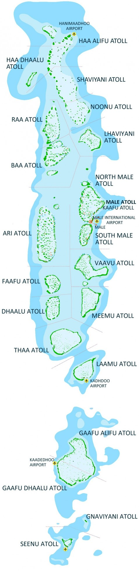 Detailed Maldives Map Map