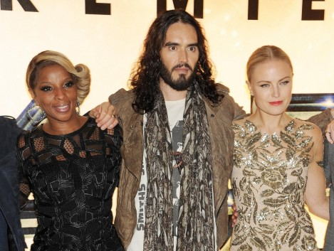 Mary J Blige Malin Akerman And Russell Brand At An Event For Rock Of Ages Large Picture Malin Akerman