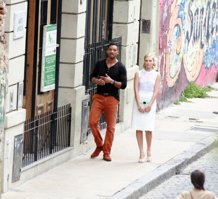 Will Smith Et Margot Robbie Sur Le Tournage De Focus En Argentine Le Novembre Will Smith
