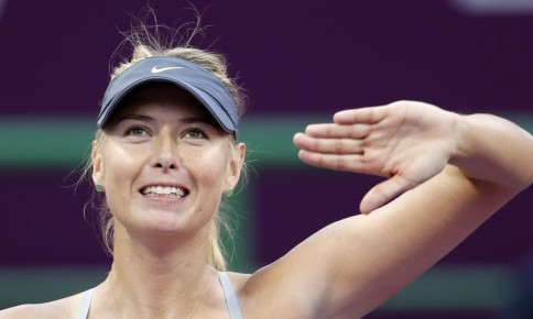 Maria Sharapova Of Russia Reacts After Defeating Samantha Stosur Of Australia During Their Womens Quarter Final Match At The Qatar Open Tennis Tournament In Doha February Body