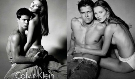 Mark Wa Berg And Kate Moss Calvin Klein Campaign Mark Wa Berg