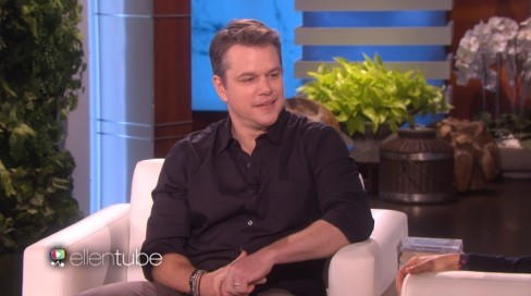 Matt Damon On Ellen Matt Damon