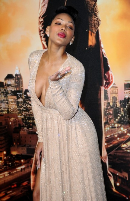 Meagan Good Ar Anchorman The Legend Continues Premiere In London Meagan Good