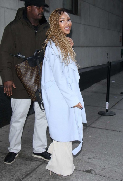 Meagan Good Arrives At The Wendy Williams Show In New York Meagan Good