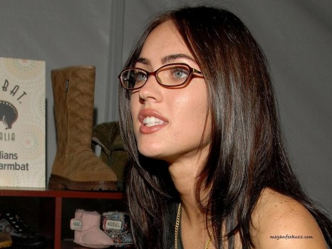 Megan Fox Glasses Wallpaper