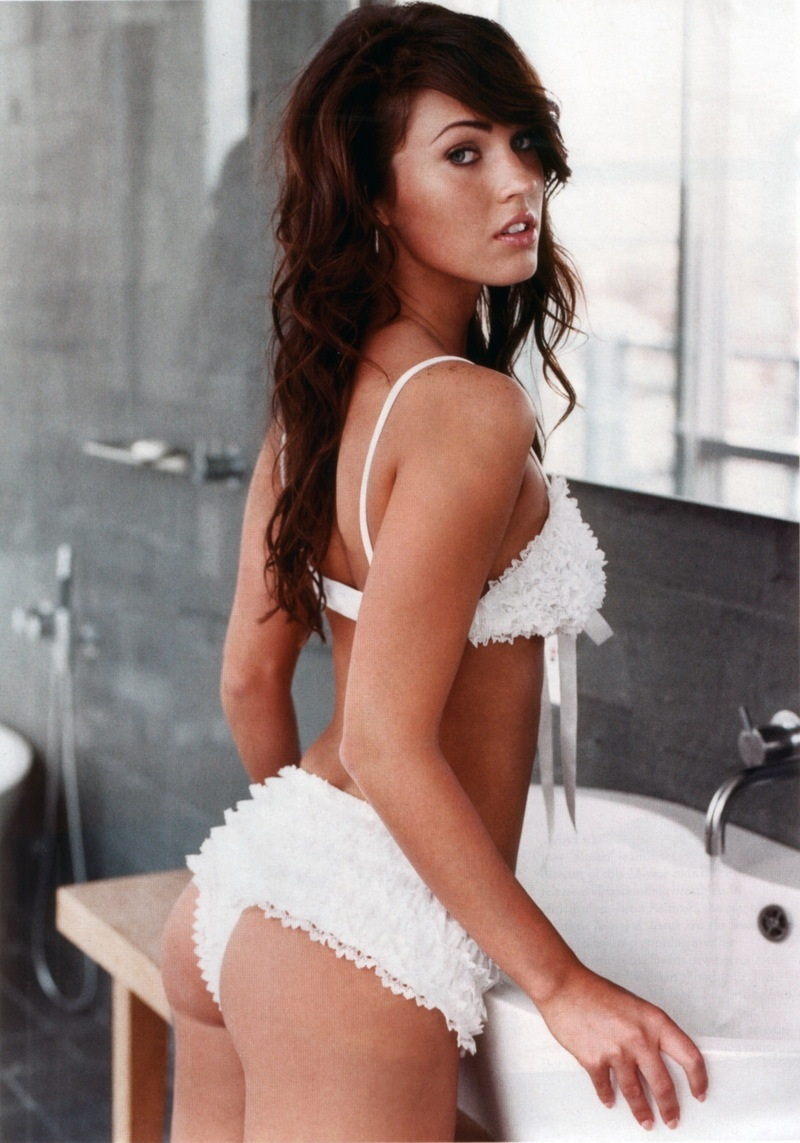 Megan Fox Sexy White Bikini Princes Hot