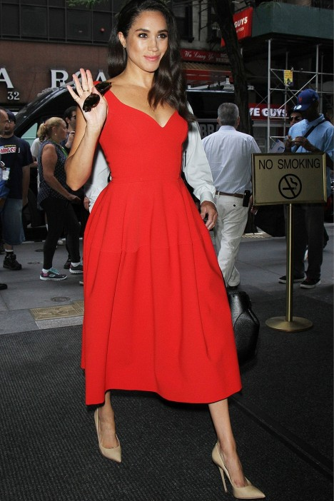 Meghan Markle Red Dress Meghan Markle