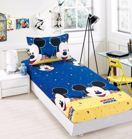 Quality Mickey Mouse Single Size Bedsheet Usee Usee Mickey Mouse