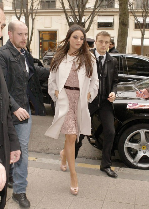 Mila Kunis At The Christian Dior Fashion Show In Paris Fashion