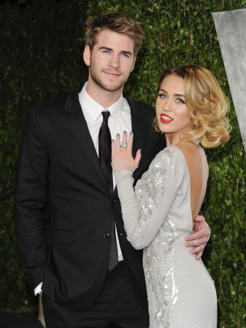 Miley Cyrus And Liam Hemsworth And Liam Hemsworth