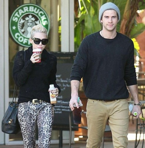 Miley Cyrus Liam Hemsworth And Liam Hemsworth