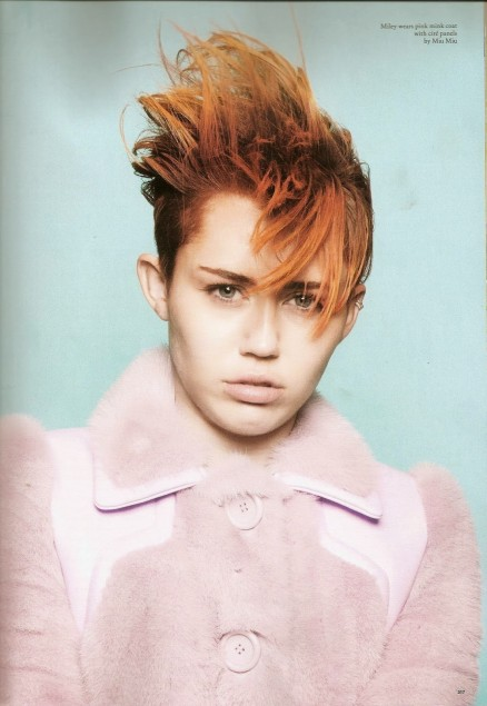 Miley Cyrus Red Hairs