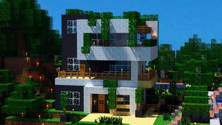 Minecraft Hd Desktop Backgrounds Awesome House