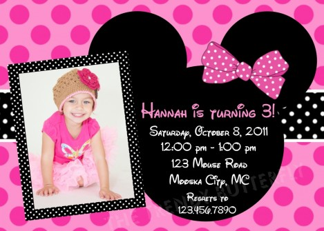Minnie Mouse Birthday Invitations As Result Of Exceptional Free Invitation Templates Printable For Your Good Looking Birthday Minnie Mouse
