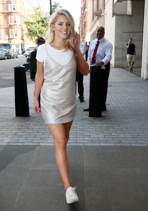 Mollie King Arrives At Radio One Studios In London Mollie King