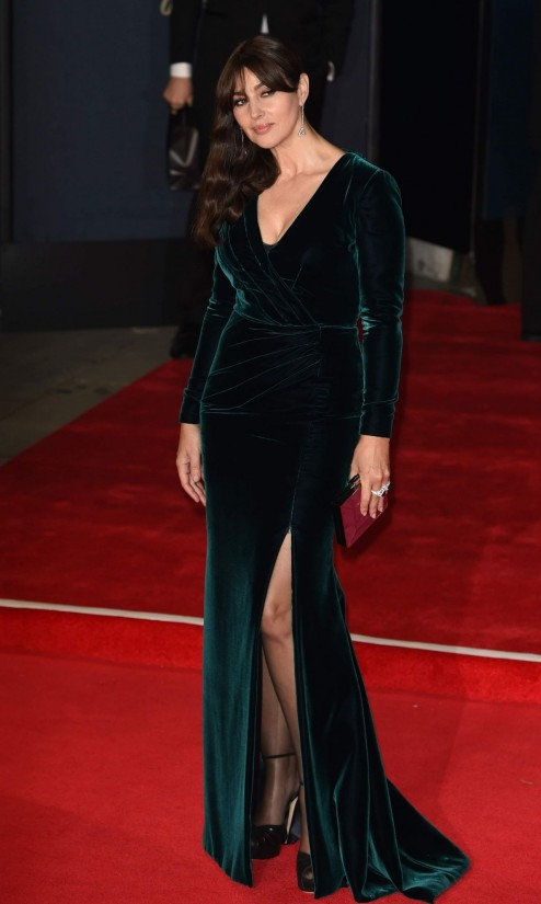Spectre World Premiere At Royal Albert Hall In London Monica Bellucci Monica Bellucci