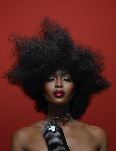 Naomi Campbell Afro Hairstyle Vogue Brazil Naomi Campbell