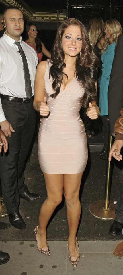 Tulisa Of Dubz Birthday Party At Movida In London Tulisa Contostavlos Dubz